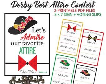 Kentucky Derby Game - Kentucky Derby Party - Derby Party - Kentucky - Derby - Derby Bridal Shower - Party Games - Derby Hat - Best Bow Tie