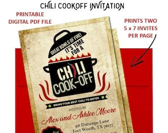 Trophy invitation etsy chili cook off invitation chili cook off invite chili tasting chili competition chili cook off chili cookoff chili printable stopboris Choice Image
