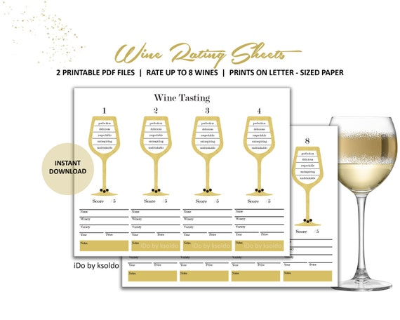 Blind Wine Tasting Wine Wine Tasting Wine and Cheese Wine Rating Wine Scoring Printable Wine Party Wine and Cheese Party