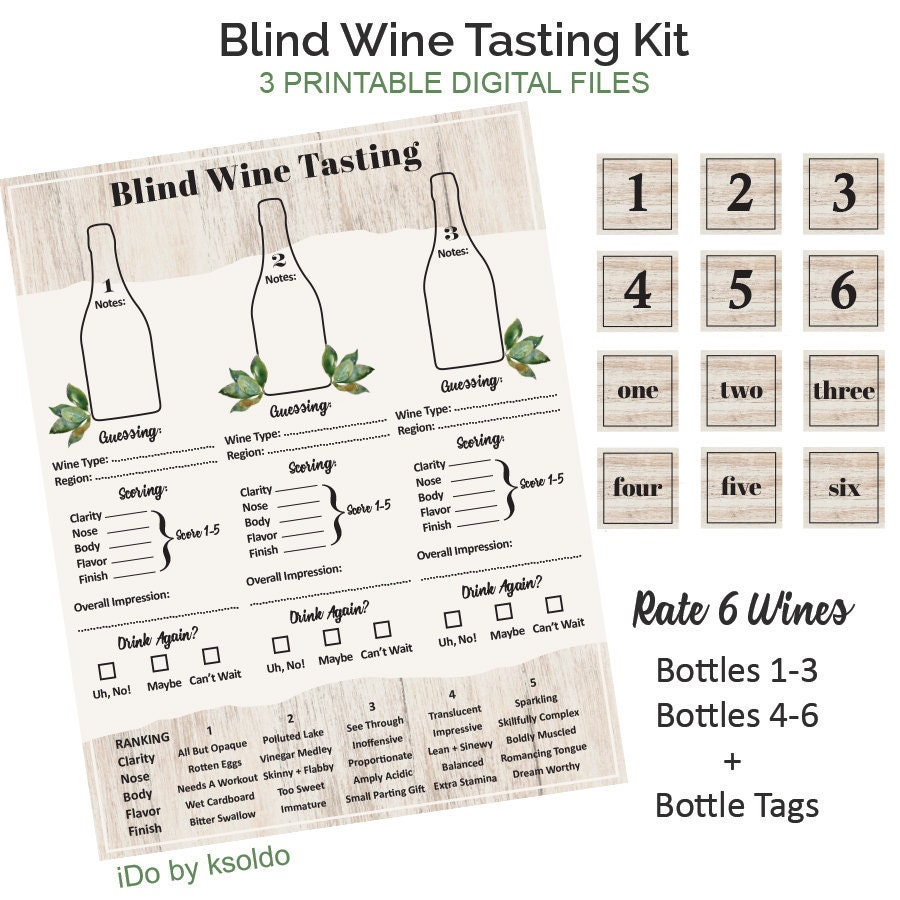 Gutsy image within blind wine tasting sheets printable