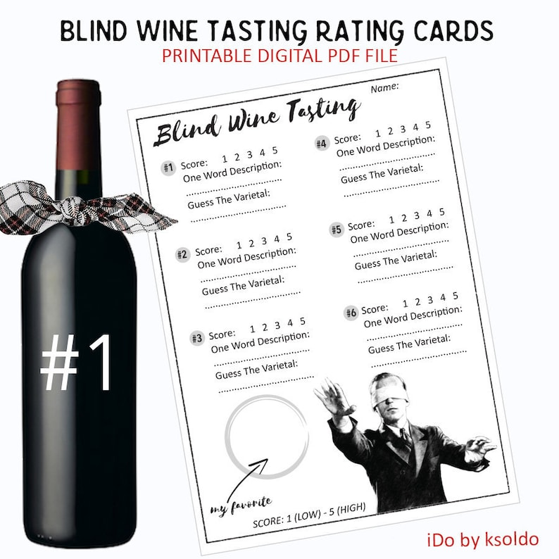 photo relating to Blind Wine Tasting Sheets Printable known as Blind Wine Tasting Rating Playing cards - Blind Wine Tasting Ranking - Wine Tasting Ranking Playing cards - Wine Birthday - Wine Tasting - Scorecards -Printable
