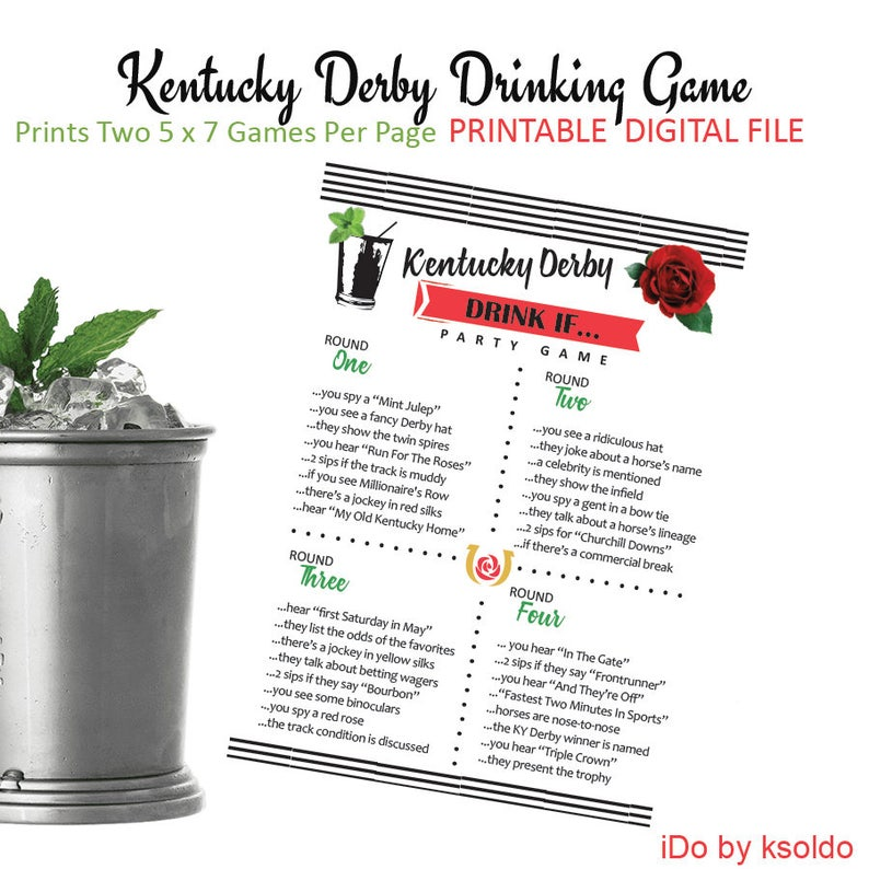 picture regarding Printable List of Kentucky Derby Horses named Kentucky Derby - Consuming Sport - Derby Consuming Video game - Consume If - KY Derby - Printable - Immediate Down load