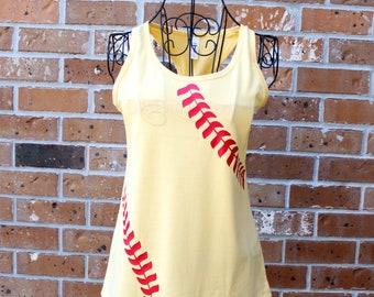 Baseball Mom Tank, Softball Mom Shirt, Softball Mom Tank, Softball Team Shirts, Baseball Laces Shirt, Baseball Monogram Shirt, Made to Order