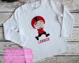 Boys Football Shirt, Boys Football Outfit, Toddler Football Shirt, Football Game Day Shirts, Team Spirit Shirts, Baby Football Outfit