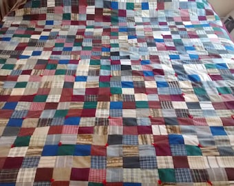 Handmade patchwork quilt.  Just in time for winter!  71 X 60  multi colors