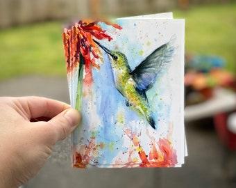 1989 Hummingbird/'s Desire Modern Postcard R001605 American Contemporary Art Evelin Wander Women Artists