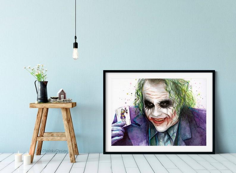Arte Joker stampa d arte Joker Joker Wall Art Why So  3c0a33c578a9