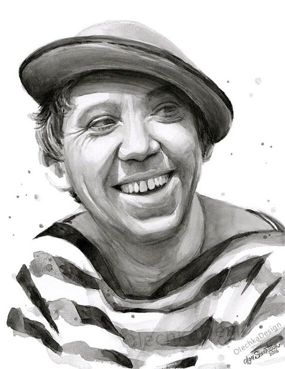 Jurij Nikulin Юрий Никулин ritratto attore russo Clown  a9f971e96087