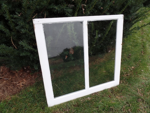 Vintage Two Pane Window Antique Window Rustic Window Etsy