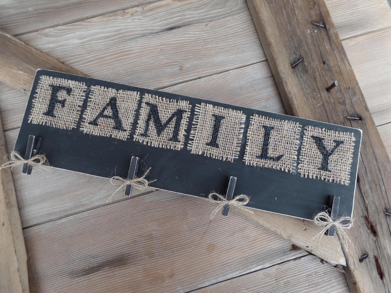 Wäscheklammer Bilderrahmen Familie Bilderrahmen