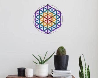 Flower of life  suncatcher sacred geometry Mandala Yoga decoration room altar hanging