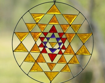 Sri Yantra Sacred Geometry Suncatcher Yoga mandala