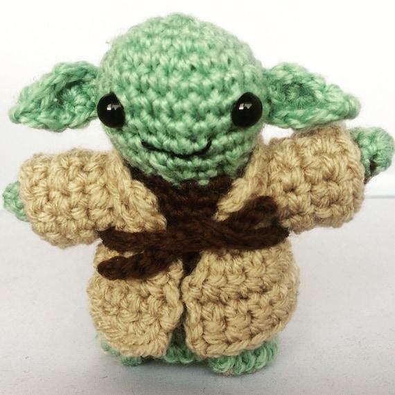 Yoda Star Wars Handarbeit Häkeln Mini Figur Yoda Geschenk Etsy