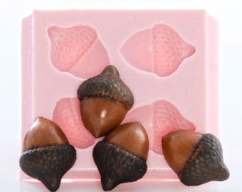DIY Nuts Silicone Mold Berries Walnut Chocolate Candy Acorn Fondant Cake Making