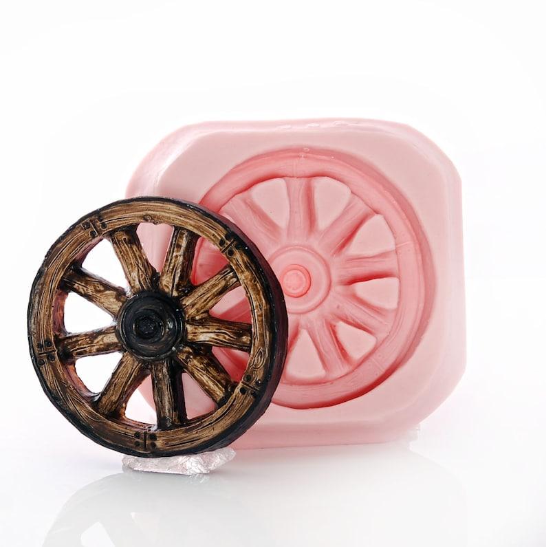 Silicone Wagon Wheel Mold Flexible Food Safe Western Wagon