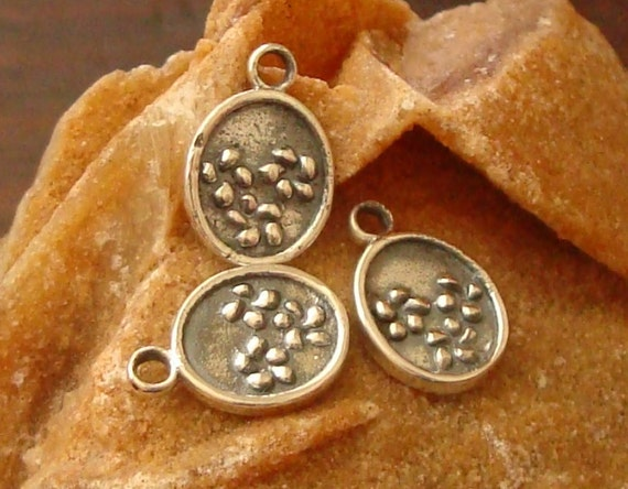 Oxidized Sterling Silver Small Hat Cap Dangle Bead Charm