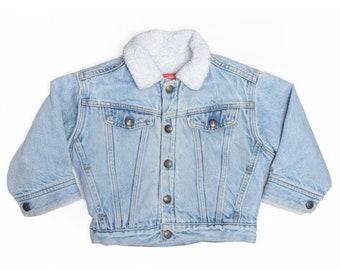 Vintage 90's TODDERS Levi's Sherpa Jean Jacket Sz 4T