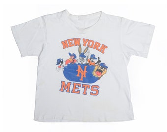 Vintage 80's TODDLERS NY Mets X Looney Tunes Graphic T-Shirt Sz M(10-12)