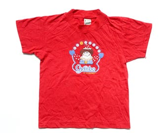 Vintage 80's TODDLERS Gymbo of Gymboree Graphic T-Shirt Sz M(7)