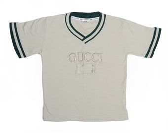 Vintage 90's TODDLERS Gucci Athletic T-Shirt Sz M
