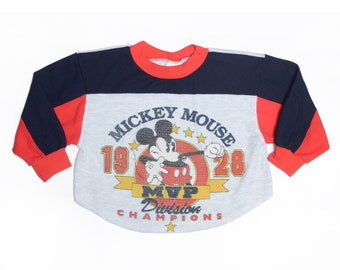 Vintage 90's TODDLERS Mickey Mouse Waffle T-Shirt Sz 5