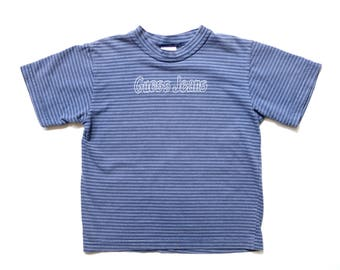 1a6a3dfdc Vintage TODDLER 90's Striped Guess Tee Sz XL