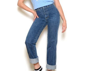 Vintage 70's SASSON High Waisted Straight Leg Jeans Sz 25W