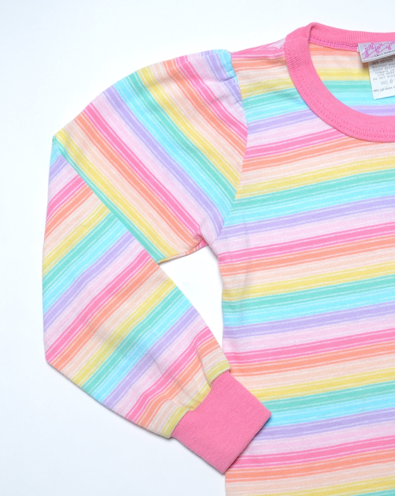 3500e39d76 Vintage 70's KIDS Levi's Rainbow Striped Long Sleeve | Etsy