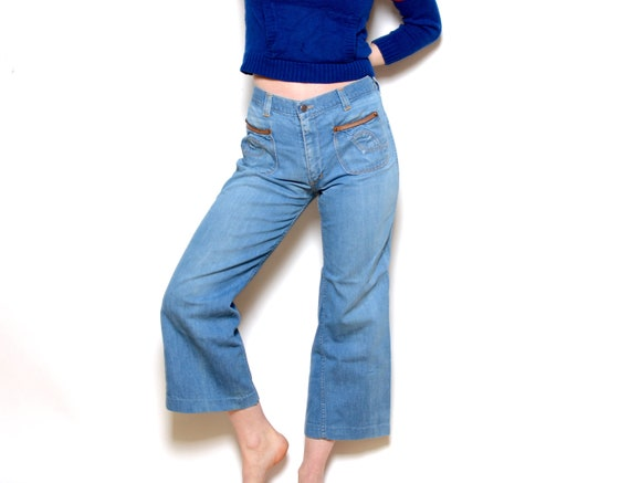 Vintage 70's Faded Glory Cropped Bell Bottom Jeans