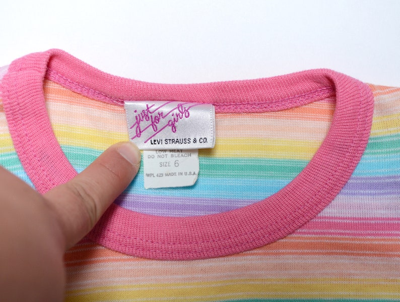 fba87f49 Vintage 70's KIDS Levi's Rainbow Striped Long Sleeve | Etsy
