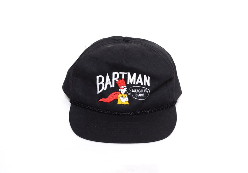 4d26e494860 Vintage 90 s Bartman Supreme Snapback Hat