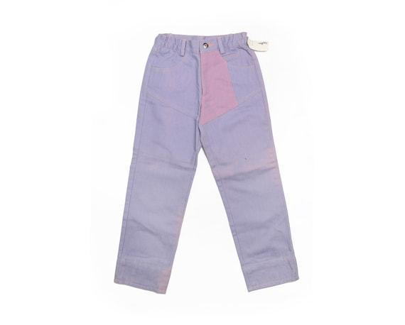 Deadstock 70's KIDS Landlubber Purple Washed Jeans