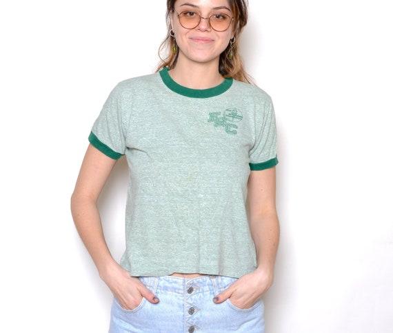 Vintage 60's FSC Green Ringer T-Shirt Sz