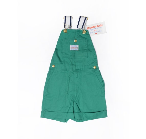 Deadstock 70's TODDLERS Carter's Green Overall Sho