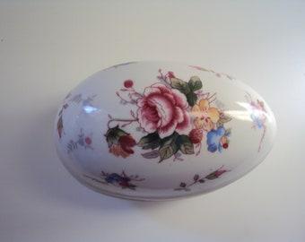 Porcelain Egg Trinket box, vintage