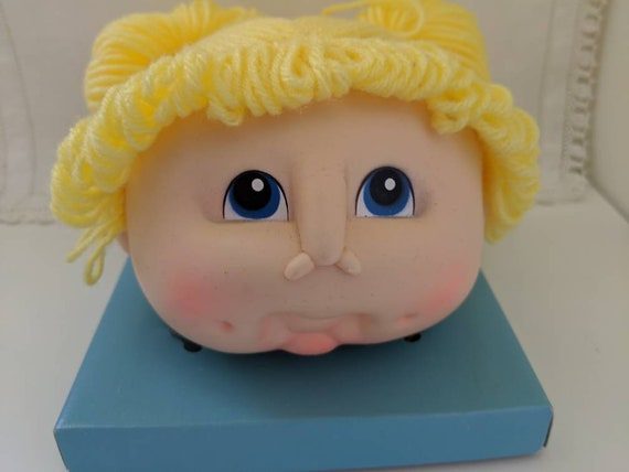 Little Doll Baby Head by Martha Nelson Thomas Brown Hair w// 2 Pig Tails
