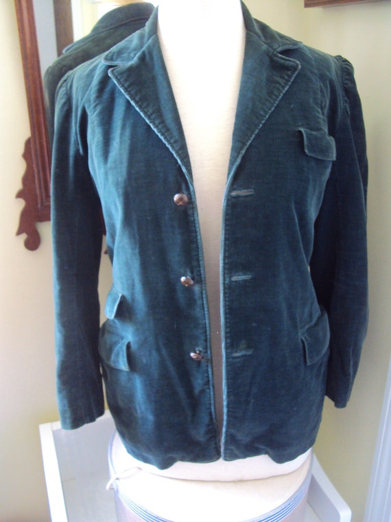 Green Corduroy Jacket, ladies, 1940's size s