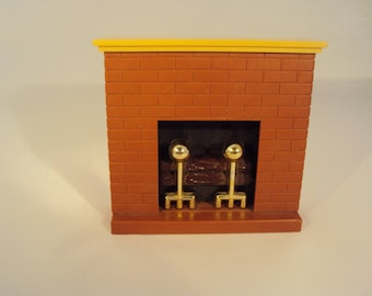 Fisher Price Doll House Furniture 1 Piece Fireplace, 1977