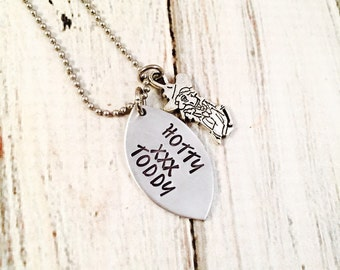 Graduation Gift Game Day Jewelry Colonel Reb College Football Hand Stamped Necklace Mississippi football necklace Football Jewelry