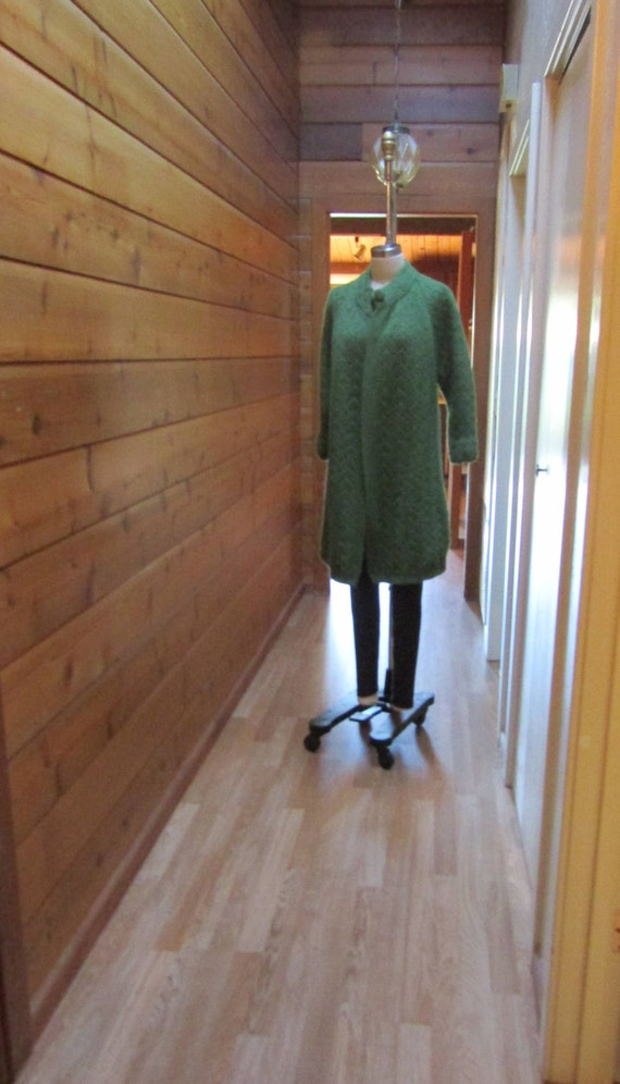 Vintage 1950's Thick Wool Cable Hand Knit Sweater