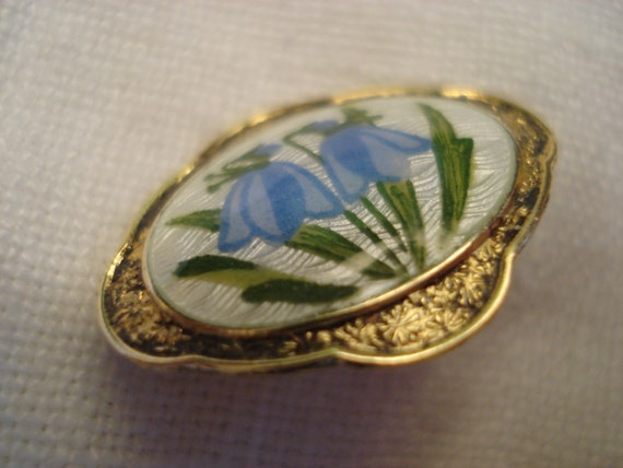 AJ Gold Filled Guilloche Pansy Brooch and Scandin… - image 5