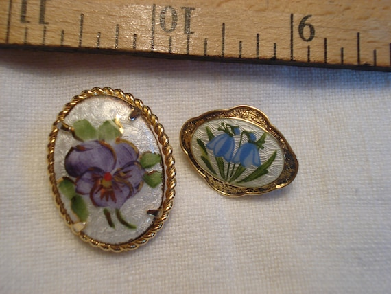AJ Gold Filled Guilloche Pansy Brooch and Scandin… - image 10