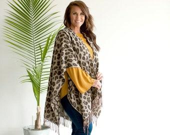 Natural Leopard Wrap