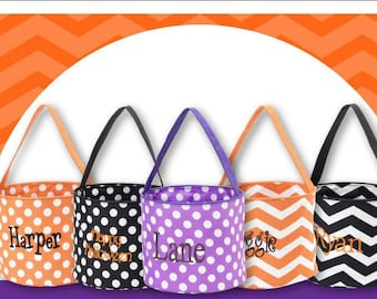 Easter Tote, Personalized Halloween Bag, Halloween Trick or Treat Bucket Tote, Trick or Treat Bag, Candy Bag, Halloween Tote, Candy Bucket