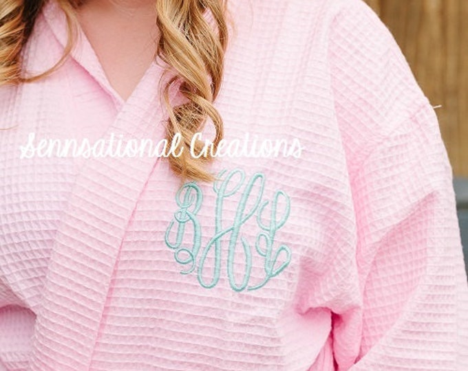 Monogrammed Bath Robe, Bridal Party Robes, Monogrammed Robe, Mommy To Be Gift, Hospital Gown, Gifts for Her, Bride Gift, Bridal Party Gifts