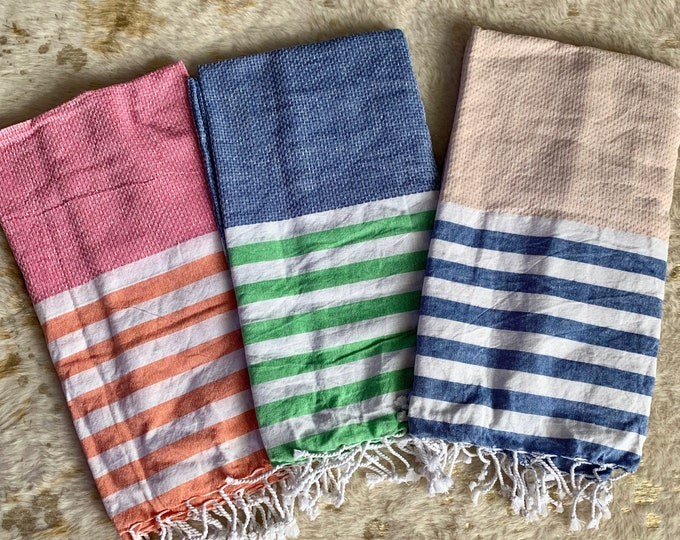 Turkish Color Block Beach Towel