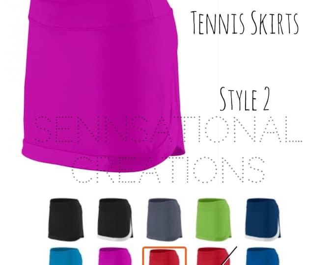 Monogrammed Tennis Skirt