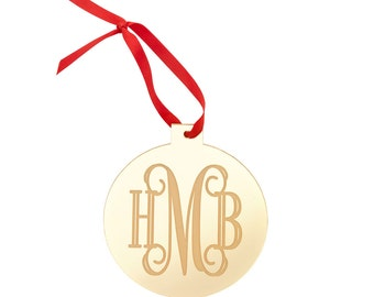 Monogrammed Ornament, Wedding Ornament, Personalized Ornament, Wedding Gift, Personalized Christmas, Christmas Ornament