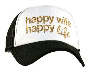 Happy Wife Happy Life Hat