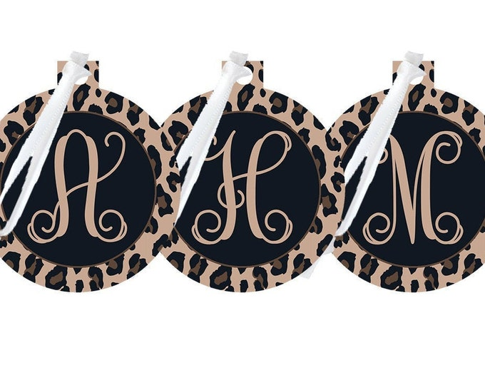 Leopard Monogrammed Ornament